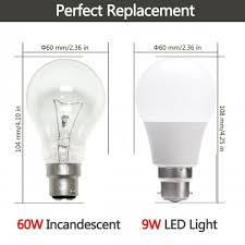pack 9w a60 b22 led bulbs 60w incandescent bulbs equivalent warm