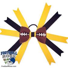 black and yellow ribbon football hair bow pittsburgh black and gold