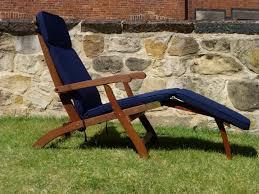 Navy Blue Patio Chair Cushions Outdoor Steamer Chair
