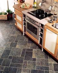 kitchen flooring ideas vinyl kitchens flooring idea sn36 slate with mp78 meteor gold