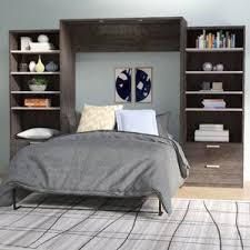 Bookcase Murphy Bed Grey Murphy Beds You U0027ll Love Wayfair