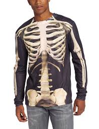 Mens Halloween T Shirts by Halloween Skeleton T Shirt For Adults Smiffys Amazon Co Uk Toys