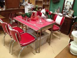 Kitchen Vintage Dining Room Design Ideas With Wooden Table And - Retro dining room table