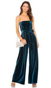 blue velvet jumpsuit nicholas strapless velvet jumpsuit in teal revolve