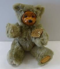 Wooden Faced Teddy Bears Small Applause Robert Raikes Teddy Bear Wood Wooden Face Jointed