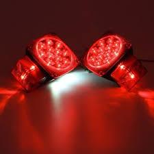 led boat trailer lights left right led square truck trailer lights over 80 stop license