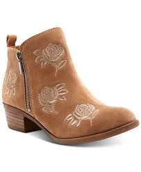 womens boots lucky brand lucky brand s basel embroidery booties created for macy s