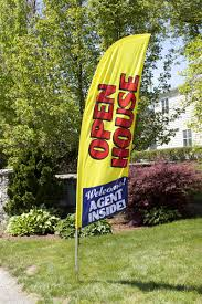 Feather Flags Cheap 8 U0027 Open House Flags Red White Blue U0026 Yellow