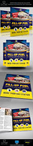 gas station flyer template on behance