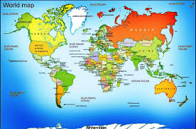Us Physical Map Detailed Map Of The World On Maps Rf Com