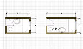 7 x 10 bathroom layout