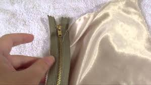 how to sew or install zipper by hand running back stitch youtube