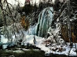 South Dakota waterfalls images Spearfish canyon waterfalls jpg