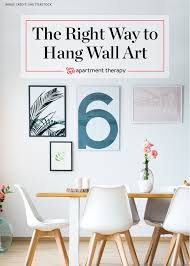 proper height to hang pictures how to hang a picture wall art tips video apartment therapy