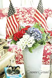 three different colors for flowers red white and blue your