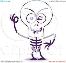 halloween skeleton images clipart of a halloween skeleton winking royalty free vector