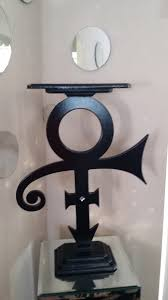 prince symbol table black sculpture home decor divaart69