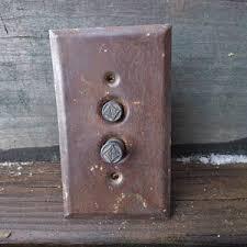 restoration hardware light switch plates antique push plates etsy