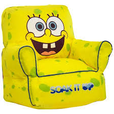 nickelodeon spongebob squarepants toddler bean bag chair walmart com