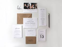 wedding invitation suites bold modern wedding invitation suite two
