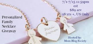 Personalized Family Necklace Merci Maman Personalized Family Necklace Giveaway Arv 89