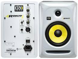 krk home theater hurtrock krk rokit 6 generation 3 powered studio monitor white