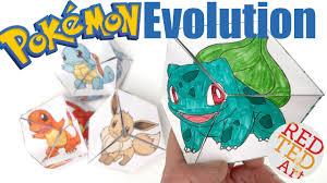 neverending pokemon evolution diy paper toy u0026 coloring page