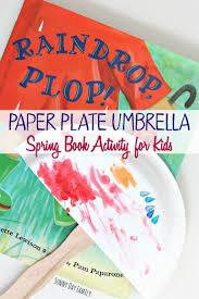 paper plate umbrella weather activity for preschoolers sunny