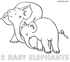 elephant baby coloring pages coloring pages to download and print