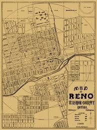 Nevada Map Old City Map Reno Nevada Landowner 1900
