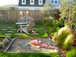 Backyard Sandbox Ideas Garden Design Garden Design With Backyard Playground And Swing