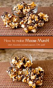 dark chocolate caramel popcorn moose munch copycat brownie