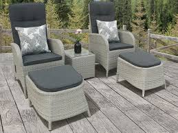 Grey Bistro Table Silver Grey Rattan Reclining Duo Bistro Set