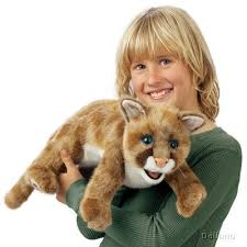 lion puppet folkmanis puppet mountain lion cub handpuppen shop living