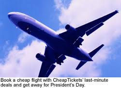 last minute travel cheap flights for president s day