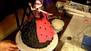 how to make monster high doll cake youtube