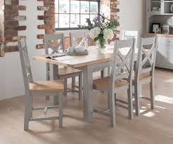 large extendable grey dining table clemence grey from big blu
