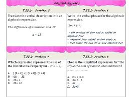 7th grade math equations and expressions ee1 common core practice