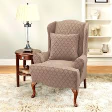 Matching Chair And Ottoman Slipcovers Slipcovers White Wingback Chair Slipcover Wing Back Slip Cover