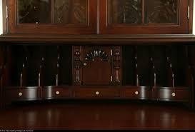 Maddox Tables Secretary Desk by Maddox Signed Mahogany Vintage Secretary Desk Convex Glass