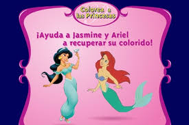 ariel jasmine coloring game disney games games loon