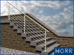 bausatz treppe edelstahl geländer boden handlauf 6x rundstahl füllung treppe