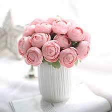 Ranunculus Aliexpress Com Buy 1 Bunch 7pcs Artificial Ranunculus Flowers