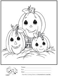 kids coloring page precious moments halloween pumpkin patch
