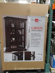 Glass Curio Cabinet Costco Pulaski Furniture Gibson Glass Display Cabinet