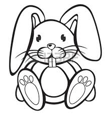rabbit clipart black and white clipart panda free clipart images
