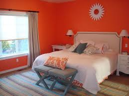 Curtain Color For Orange Walls Inspiration Bedroom Simple Orange Paint Color For Bedroom Inspiration With