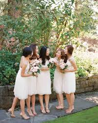martha brides and bridesmaids in j crew dresses martha stewart