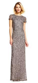 papell dress papell scoop espalda con lentejuelas vestido de venta