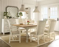 cottage dining room sets white set country style solid wood 3